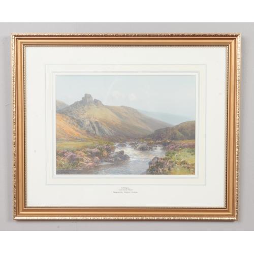 12 - Frederick John Widgery 1861-1942, gilt framed watercolour, provenance label verso Lorna Doon's Bower...