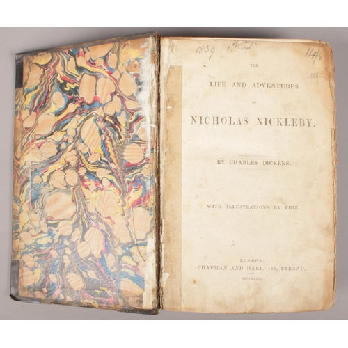 15 - Charles Dickens, The Life And Adventures of Nicholas Nickleby. With illustrations by Phiz. Published...