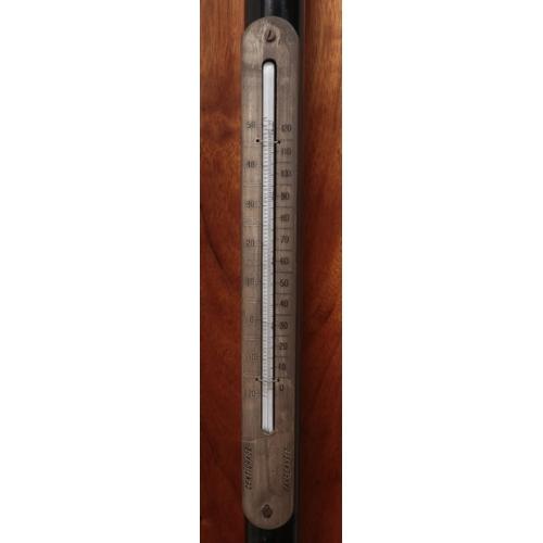 24 - A cased W & J. George & Becker LTD London Fortin Barometer. 127cm tall.