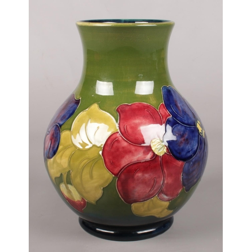 3 - A large Moorcroft vase in the Anemone design. Monogrammed WM to base. Height 24cm.
