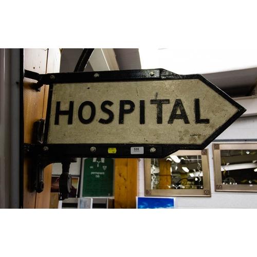 OLD HOSPITAL ARROW SIGN