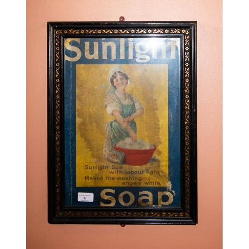 ORIGINAL SUNLIGHT SOAP ADVERTISING PRINT IN FRAME 49 X 36 CM FRAMED