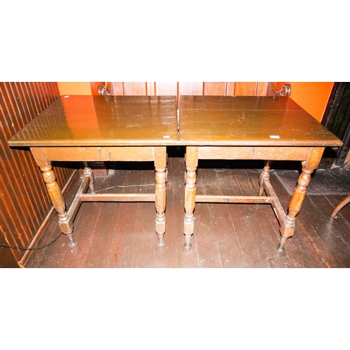 42 - 2 SQUARE TOP PUB TABLES 68 X 68CM...