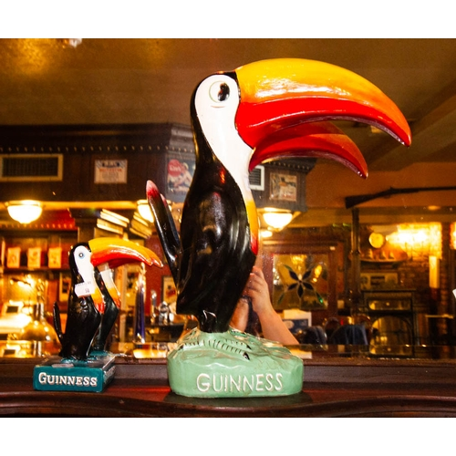 50 - LARGE GUINNESS TOUCAN AF 40CM HIGH + SMALL TOUCAN 19CM HIGH...