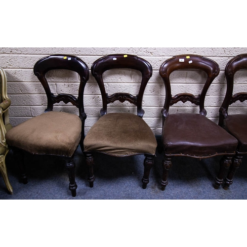 48 - 6 ANTIQUE MAHOGANY DINING CHAIRS AF...