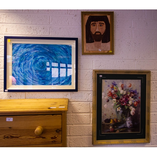 8 - 6 ASSORTED OIL PAINTINGS + PRINTS...
