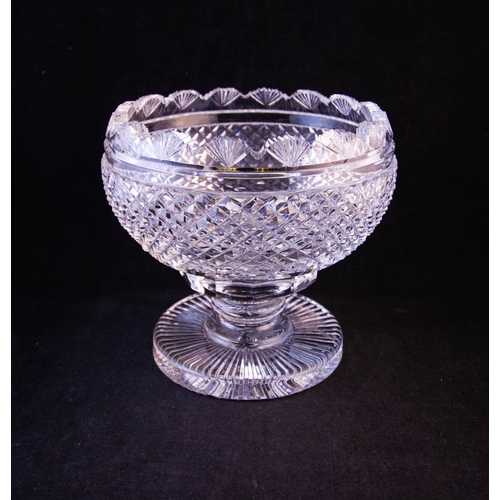 WATERFORD CRYSTAL FOOTED HOBNAIL BOWL 14CM HIGH