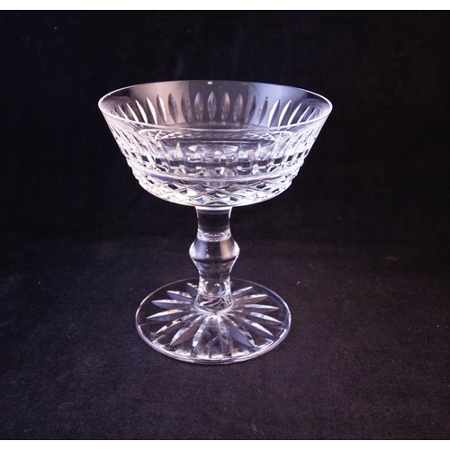 SET OF 6 WATERFORD CRYSTAL CHAMPAGNE SAUCERS