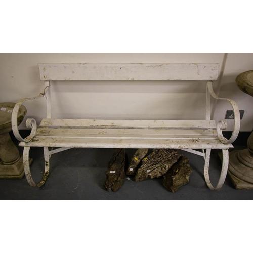 30 - METAL END GARDEN SEAT