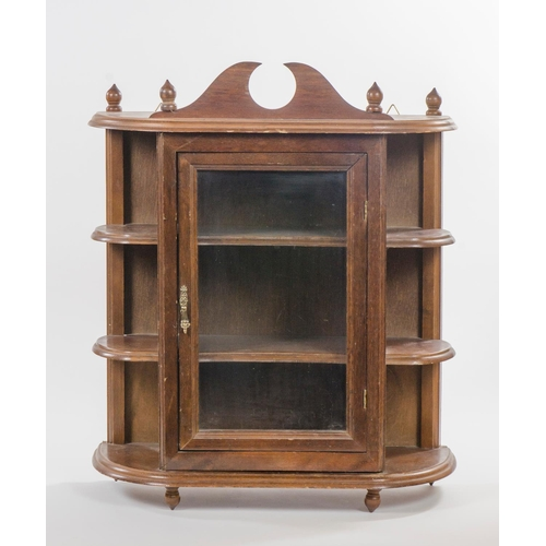 14 - A reproduction dutch design wall cabinet, stained as oak, fitted 3 shelves, width 51.5cm...