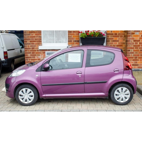 218 - 2014 Peugeot 107 active, 5 doors manual lilac with black fabric interior 39k miles 3 owners 2 keys (...