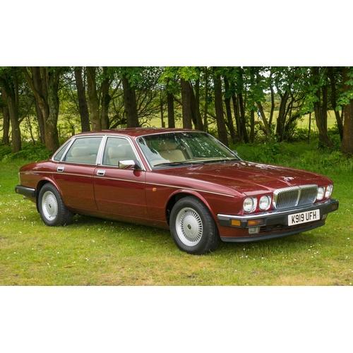 219 - Scarce Daimler Sovereign double 6 V12 saloon red metallic, 89,000 miles, jaguar history (Paperwork i...