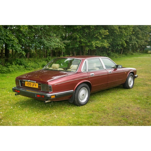 219 - Scarce Daimler Sovereign double 6 V12 saloon red metallic, 89,000 miles, jaguar history (Paperwork i...