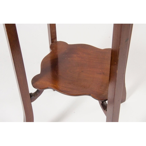27 - A Edwardian mahogany jardiniere stand, with carved legs and under tier, width 32.5cm...