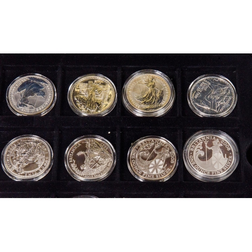 359 - A set of 16 silver £2 coins in original box. With some certificates....