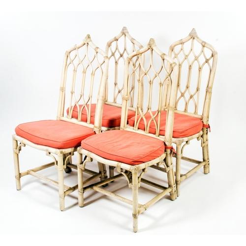 41 - A set of 4 Bamboo design garden chairs...
