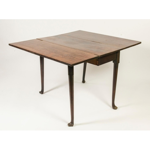 6 - Georgian mahogany drop flap dining table, resting on pad feet, width 151.5cm...