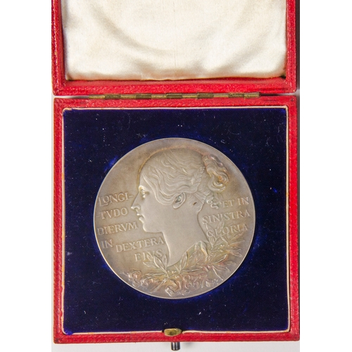 144 - A Queen Victoria Jubilee, 1837- 1897, Silver Young head/veiled head Commemorative Coin, struck in si...