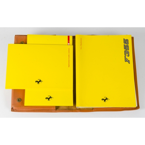 480 - A Scarce Ferrari Owners Manual and Book pack for a 1996 Ferrari F355 complete with Original Leather ...