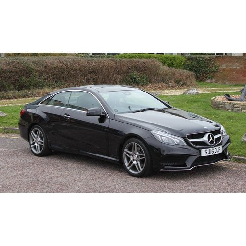 482 - Mercedes E200 Petrol AMG Coupe - 2016/16, Black/Black Leather, Full AMG Spec Plus, Sat Nav, Harmon K...