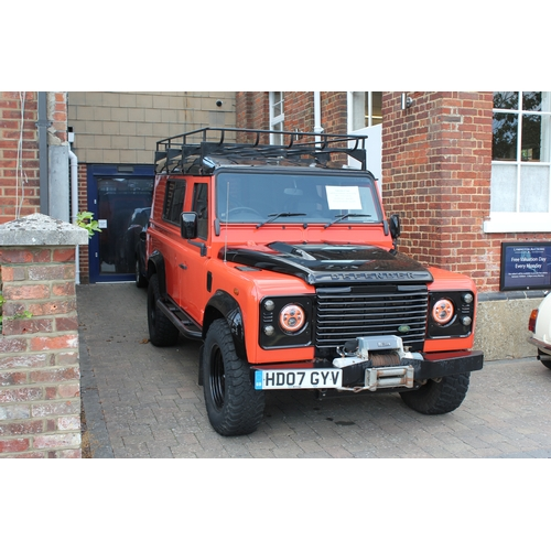 481 - Land-Rover Defender LWB Hard-Top - 2007/07, Orange & Black with Recaro Style Front Seats, Power Winc...