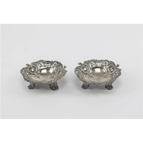 52 - Two 1894 silver Bon Bon dishes. 103 grams....