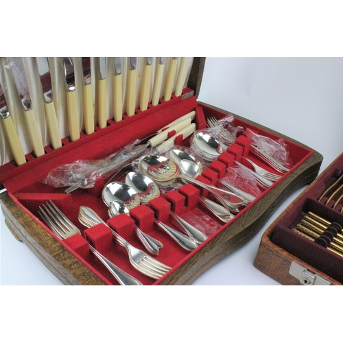 44 - A quantity of plated cutlery in a canteen plus one other canteen....