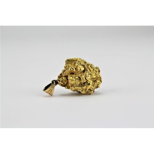 166 - A Gold Nugget Pendant contained in box. 31 grams....