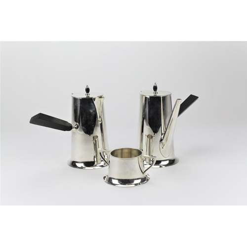 12 - A pair of Hamilton & Company Cafe Au Lait, Indian Silver, with ebony handles, marked H&Co Elephant, ...