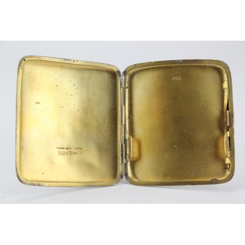 40 - A Victorian engraved silver cigarette case. Weighing 3 oz....