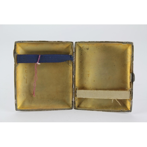 31 - A Victorian silver engraved cigarette case, TH from LP