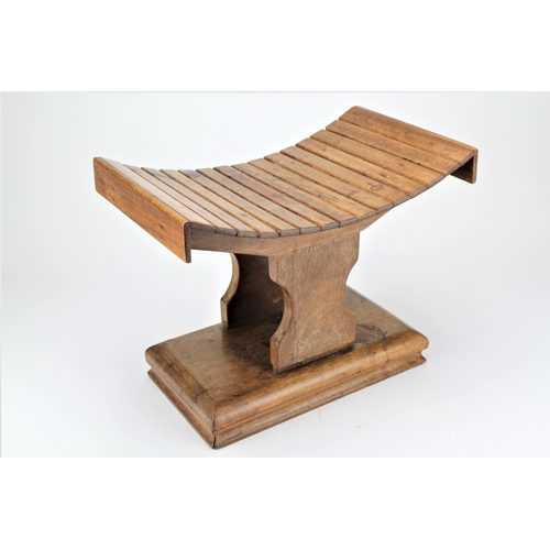 518 - A Rare African Missionary wood stool of H shape....