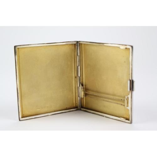 17 - A Silver Cigarette Case, along with a Silver Tray....