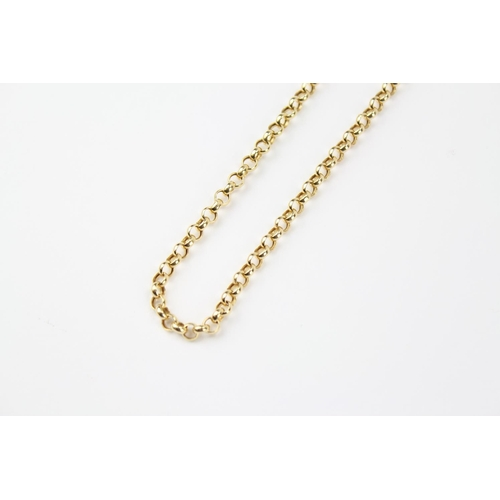 29 - An 18 carat Gold link chain. 9.2 grams....