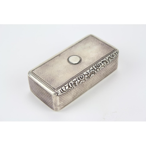 8 - A Georgian Silver Table Snuff box with cast thumb piece, London O, maker Benjamin Smith....