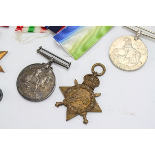 436 - A Silver 1918 war medal, 264 private W.Jackson, 191415 star, Atlantic medal, African star, etc....