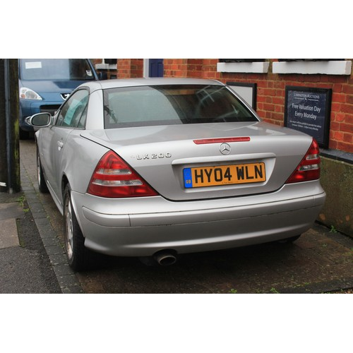 293 - Mercedes SLK 230 Hard Top Convertible finished in Silver with Black Leather, 2004, Approximate 79,00...
