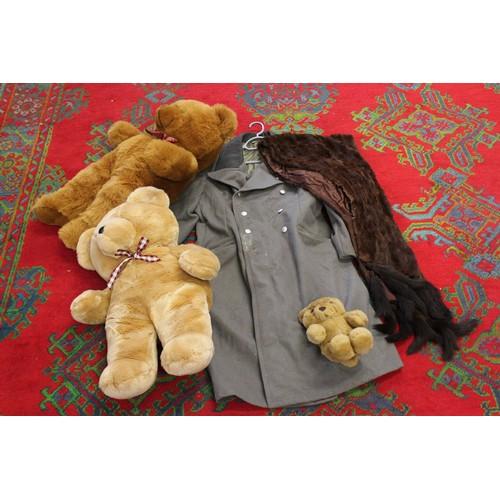 134 - A Fur Stole, Fur coats, Teddy Bear, etc....