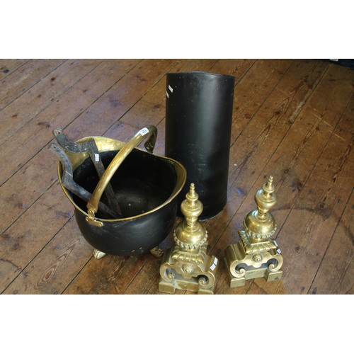 131 - Various items of collectables, including 2 Queen Anne dogs, a coal scuttle and bucket....