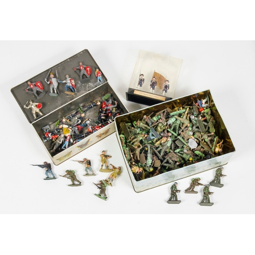 722 - A Collection of World War 2 Plastic Figures, some made by lone star and other various. Accompanied b...