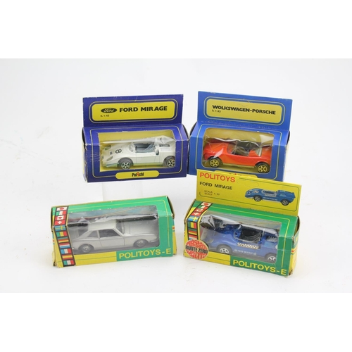 760 - 2 x Politoys models to include a Ford Mirage & a Ghia V280 along with 2 x Polistil models to include...