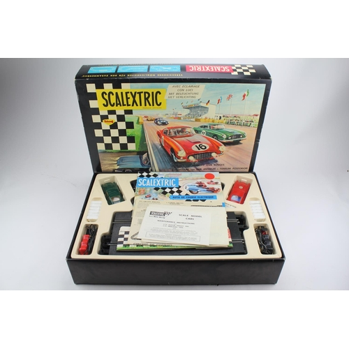888 - A Scarce French Scalextric Racing Gift Set to include a Ferrari 250GT & Aston Martin DB4 in Original...