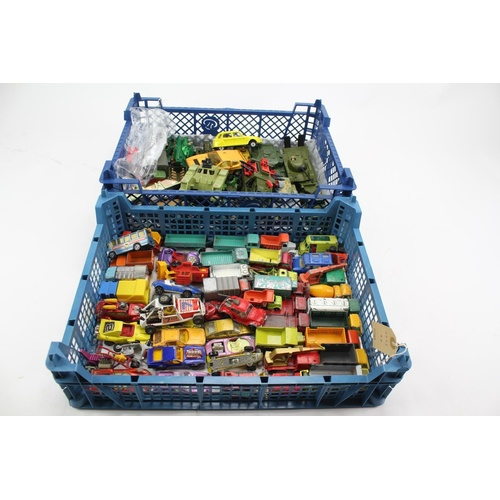 762 - 2 x Trays of Various Diecast models to include: Corgi, Matchbox, All 1960's to 1970's. AF. Approx 80...