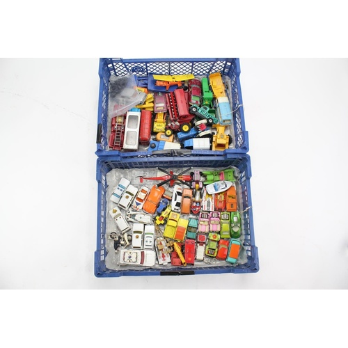 763 - 2 x Trays of Various Diecast models to include: Corgi, Matchbox, Kingsize, etc. All 1960's to 1970's...