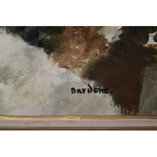 594A - A Bardone Guy signed oil on canvas,