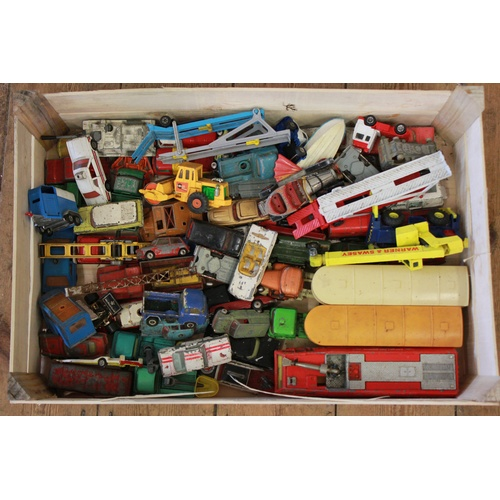 739 - A Large Box of 50+ Corgi Models from the 1960's to 1970's all in varying conditions. Needs Viewing....
