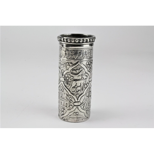 8 - An Antique Indian colonial vase decorated with buildings, etc....