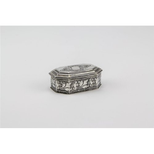 10 - An Indian Silver Floral embossed Snuff Box....