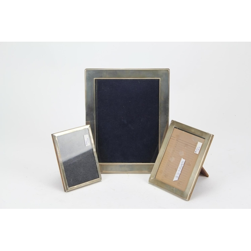 26 - Three silver photo frames 1919, 1933 and a modern one....