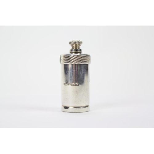 41 - A modern silver picnic pepper grinder with fluted thumb piece....